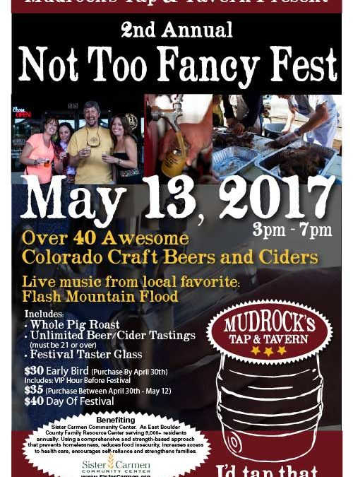 Second Annual Not To Fancy Fest May 13th